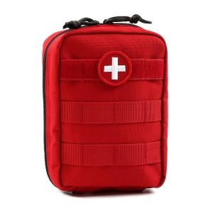 red first aid pack