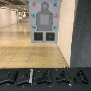 indoor handgun target practice