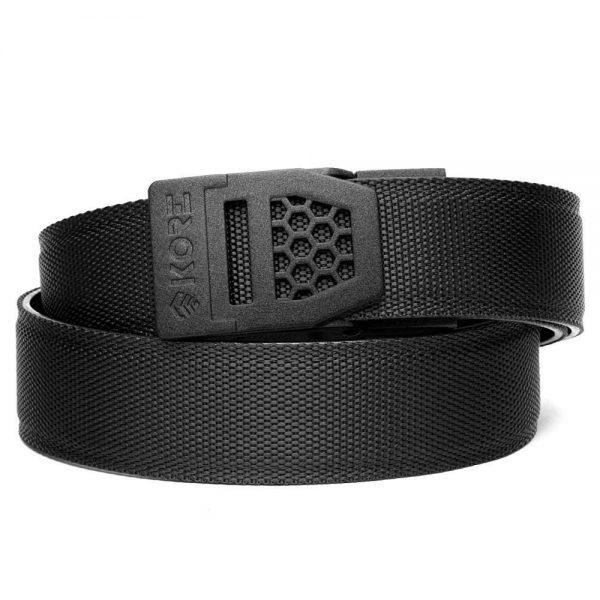 tactical black gun belt with powder black buckle